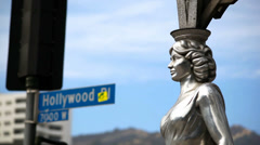Hollywood Starlet Statue Stock Footage