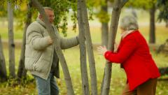 Flirty Retirees Stock Footage