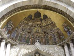basilica san marco; facade particular - stock photo