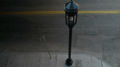 Street Corner with Lightpost Stock Footage