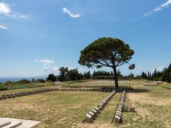 memorial stone at anzac cove gallipoli - stock photo