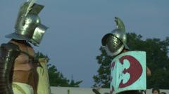 Gladiator munus Thraex Murmillo 03 Stock Footage