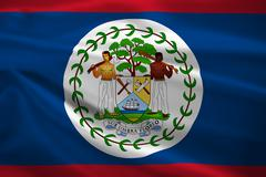 Stock Illustration of belize flag blowing in the wind