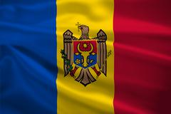 Moldova flag blowing in the wind Stock Illustration