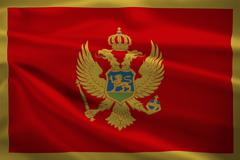 montenegro flag blowing in the wind - stock illustration