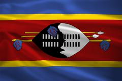 Swaziland flag blowing in the wind Stock Illustration