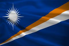 Marshall islands flag blowing in the wind Stock Illustration