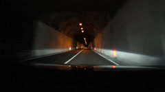 Driving in tunnel HD - stock footage