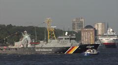 Grand Departure parade of Hamburg port anniversary Stock Footage