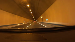 Driving in tunnel, time lapse HD - stock footage