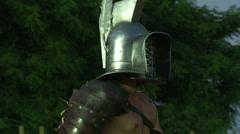 Gladiator munus Thraex Murmillo 07 Stock Footage