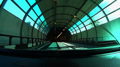 Driving in tunnel, time lapse HD Stock Footage