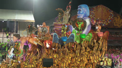 Carnival 2013 (2nd night) - Fourth Float - stock footage