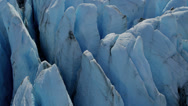 Stock Video Footage of Aerial view deep crevasses ice blue glacier, arctic Region, USA