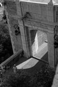 Gateway to Monaco's castle - stock photo