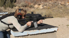 Female shooter 2 Stock Footage