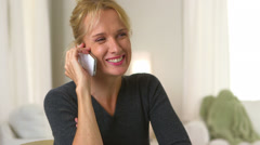 Mature woman talking on cell phone - stock footage