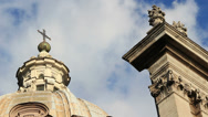 Stock Video Footage of Detail on ancient Roman catholic church in Rome 2