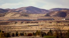 NSA data center in Utah pan from left to right Stock Footage