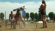 Stock Video Footage of gladiator training Secutor Secutor 01