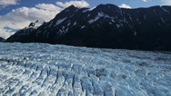 Stock Video Footage of Aerial view Knik glacier Chugach Mountains, Alaska