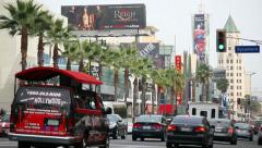 Hollywood Boulevard - stock footage