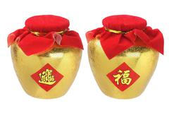 gold pots - stock photo