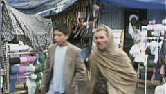 BUSY MARKET AFGHANISTAN  Kabul 1980s Buy Sell Vintage Film Home Movie 7163 Stock Footage