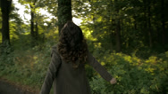 Stock Video Footage of Woman dancing in the forest