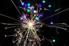 Sparkler pyrotechnics Stock Photos