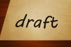 draft - stock illustration