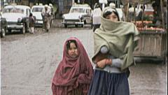 Girls in Veils AFGHANISTAN Kabul 1980s Vintage Film Home Movie 7167 - stock footage