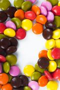 colorful sugar candy - stock photo