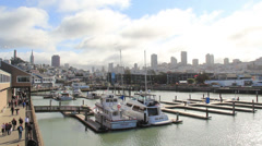 San Francisco From Pier 39 Stock Footage