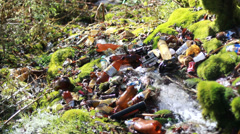 conceptual unhygienic polluted river - stock footage