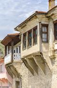 View on old town of ohrid in macedonia, balkans. Stock Photos