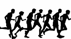 Runners silhouette Stock Footage
