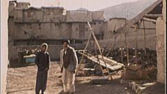 Men Stand Gateway AFGHANISTAN Kabul 1980s Vintage Film Home Movie 7174 Stock Footage