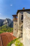Ancient monastery. monastery in meteora, greech.  it belongs to the unesco wo Stock Photos