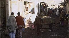 Busy Street Scenes AFGHANISTAN Kabul 1980s Dirty Vintage Film Home Movie 7176 - stock footage