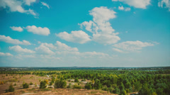 Green horizon and clouds Stock Footage