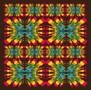 mix color guitar pattern vector art - stock illustration