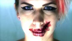 Speak no Evil Concept Blue Strobe Stock Footage