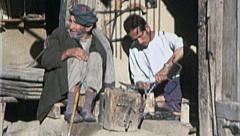 BLACKSMITH Men Work Metal AFGHANISTAN Kabul 1980s Vintage Film Home Movie 7180 Stock Footage