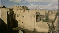 Outskirts Kabul Housing AFGHANISTAN Mud Homes 1980s Vintage Film Home Movie 7181 Stock Footage