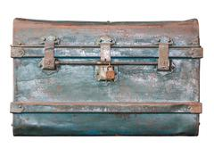 old metal  treasure chest - stock photo