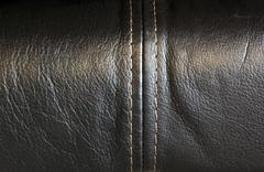 Close up of stitching on leather upholstery Stock Photos