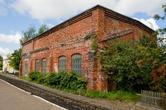 Stock Photo of old locomotive depot
