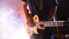 Man playing guitar Stock Footage