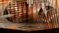 Church Organ Pipes Motion Mapping Arkistovideo
